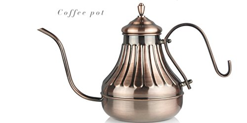Pour Over Kettle - For Coffee & Tea, Ergonomic Designed Drip Pot w/Gooseneck & Narrow Spout, Gooseneck Stainless Steel Drip Pot for Coffee & Tea, - Ideal w/Stovetop, Gas, IR, Etc (450CC) (Infrared Toaster Over compare prices)