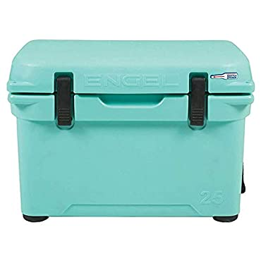 Engel 25 High Performance 5.28 Gallon 24 Can Roto Molded Ice Cooler, Seafoam