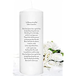 In Memory Candle Honoring a Deceased Mother or Father for Weddings