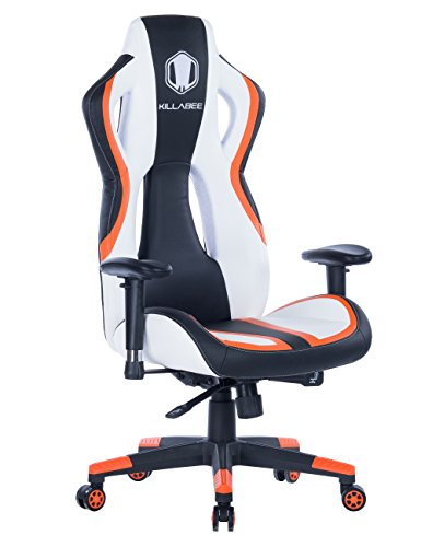 HEALGEN Gaming Chair Racing Style High-Back PU Leather Office Chair PC Desk Chair Executive and Ergonomic Swivel Chairs (Orange)