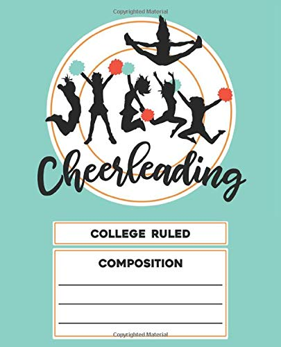 Cheerleading College Ruled Composition por Composition Notebook