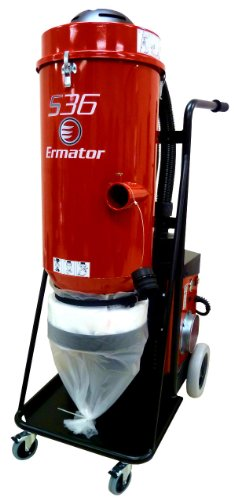WerkMasterTM ErmatorTM S36 HEPA Vacuum, 5.1 HP, 230 V, 353 CFM