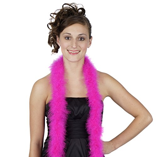 ZUCKER Marabou Boa Medium Weight Solid Color - Shocking Pink