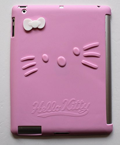 kathy Store INC Cute Cartoon Hello Kitty Pattern Soft Silicone Cover Case for Apple Ipad 2/3/4 Protector Case (Pink) (Ipad Hello Kitty Cover compare prices)
