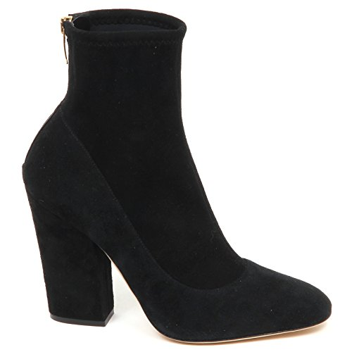 5 ROSSI Black Suede Scarpe Woman SERGIO Shoe Stretch Tronchetto Donna 38 E4738 Boot U4Twa1a7q