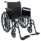 "18"" wheelchair, removable desk armrest, swingaway footrest"