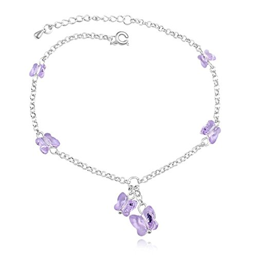 Changeable Butterfly Bracelets, Link Style, Rose Pink Crystals Made with Swarovski Elements