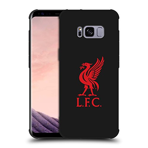 (Official Liverpool Football Club Red Logo Various Designs Shockproof Matte Black Case For Samsung Galaxy S8)