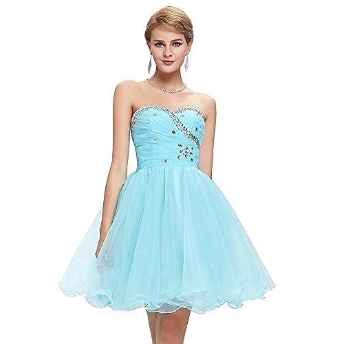 Light Blue Short Prom Dress: Amazon.com