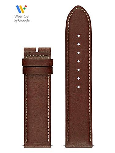 GUESS CS1002S3 22mm Leather Calfskin Brown Watch Strap