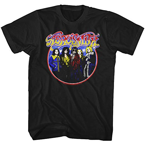 Ze Aerosmith estampado con Bad Camiseta negro para hombre qR1d55nW