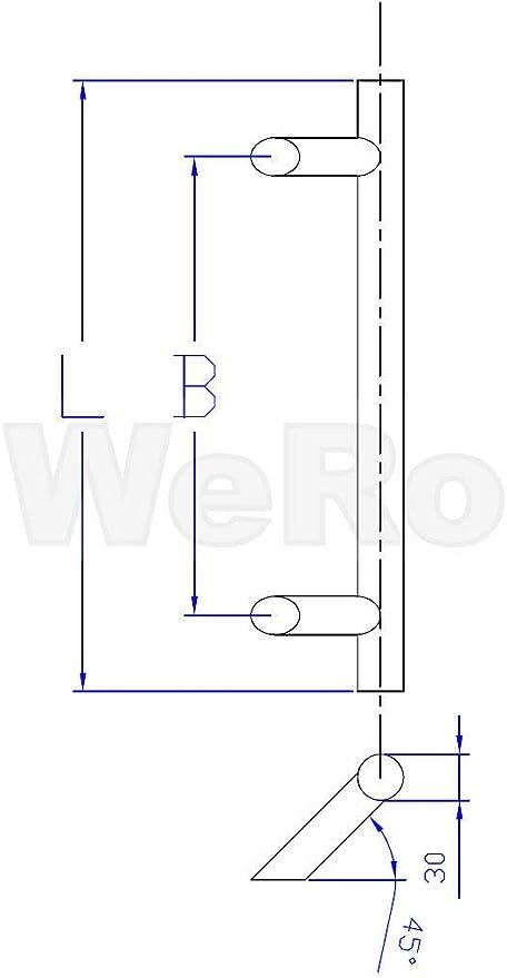 Set1022 in verschiedenen Ausführungen Beschlag Edelstahl Haustür Griff