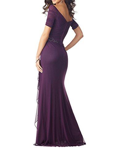 Royal Langarm Dunkel Brautmutterkleider Charmant Chiffon Jugendweihe Blau Abendkleider Elegant Partykleider 2018 Kleider Neu Damen wqAfI7