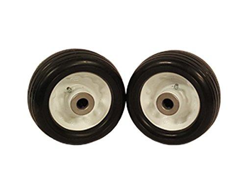(2) Toro 6.25x3 Ribbed Flat Free Tire Assemblies Fits Toro 32