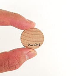 AS 1 inches (50-pcs / 100-pcs / 200-pcs) Natural Schima superba unfinished round wood,These round wood coins The limitations are endless!(200-pcs)