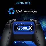 Xbox One Rechargeable Battery Pack [2x2500mAh] Xbox One Controller Battery with 3H Quick Charger for Xbox One/Xbox One S/Xbox One X/Xbox One Elite Wireless Controller