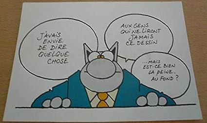 Bd geluck le chat 10x15 cm carte postale: amazon.fr: cuisine