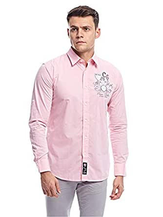 Pierre Cardin Casual Shirt for Men - Pink