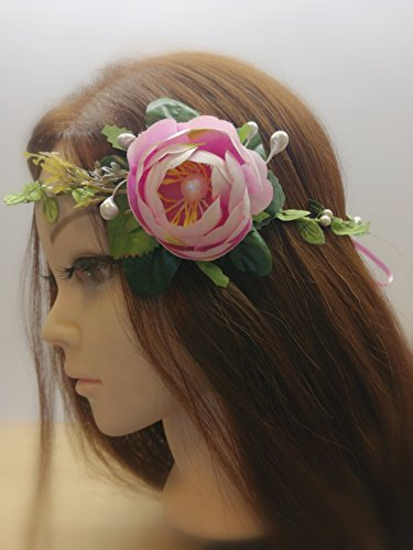 Blush Pink Flower Crown, BridalFloral Crown, Wedding Flower Headband, WeddingFlower Crown, Floral Crown (Shaper Blush)