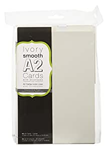 Darice Cards and Envelopes, 4-Inch by 5-Inch, Ivory, 50-Pack