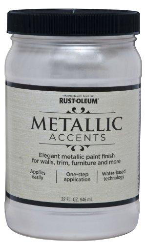 - Rust-Oleum 253610 Metallic Accents Paint, Quart, Sea Shell