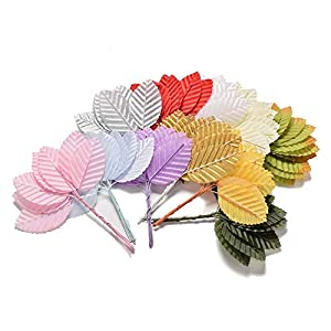 ShineBear 10Pcs/Pack High Simulation Leaves Silk Stocking Flower Artificial Scrapbooking Flower Leaves Party Decoration 88