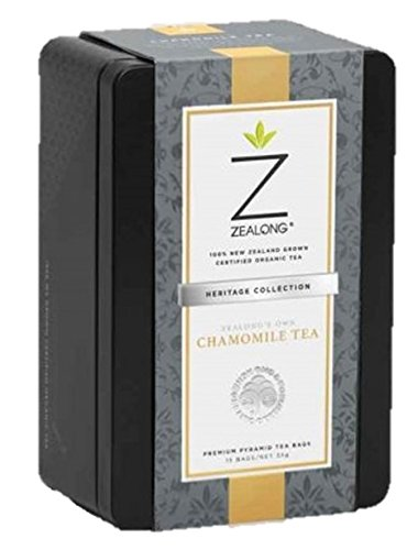 Chamomile Tea, Low Caffeine, Organic New Zealand Grown Tea and All Real Flowers, Natural, Biodegradable Tea Bags by Zealong