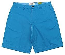 Original Penguin Men's Vivid Blue Slim Fit Chino Shorts, 36