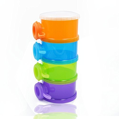 SOKDO Colorful Milk Powder Dispenser Portable Milk Ponder Box Four-layer Detachable Milk Container