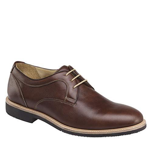 Johnston & Murphy Men's Barlow Plain Toe Shoe Tobacco Full Grain 9.5 M US