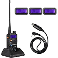 NKTECH UV-5R Plus VHF UHF Out Power 8W 4W 1W Dual Band 136-174/400-520MHz PTT FM Two Way Radio Ham Transceiver Walkie Talkie VS BaoFeng and USB Programming Cable