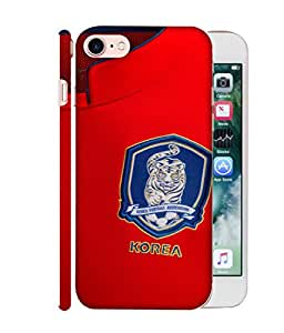 ColorKing Football South Korea 03 Red shell case cover for Apple iphone 7