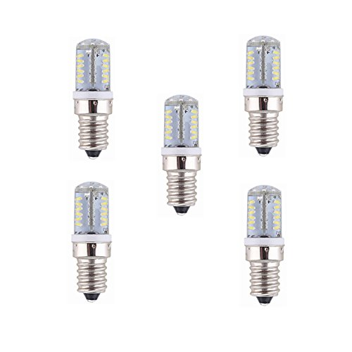 Welsun 12V Low Voltage E14 Base 57 SMD 3014 LED E12/E14 Light Bulb Lamp 4 Watt 260-280LM AC/DC 12V Equivalent to 30W Halogen Track Bulb 5-Pack (Color : Cool white, Style : E12)