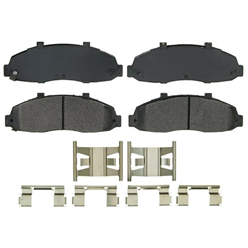 Wagner QuickStop ZX679 Semi-Metallic Disc Pad Set Includes Pad Installation Hardware, Front ()