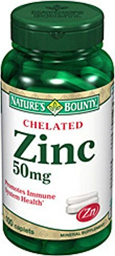 100 Zinc 50mg Chelated Nature's Bounty Immune System Health Mineral - Smith Sunglasses Mr