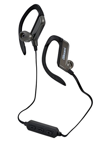 2BOOM Wireless Hands Free Bluetooth Sweat Proof In Ear Buds with Clip Headphone Black