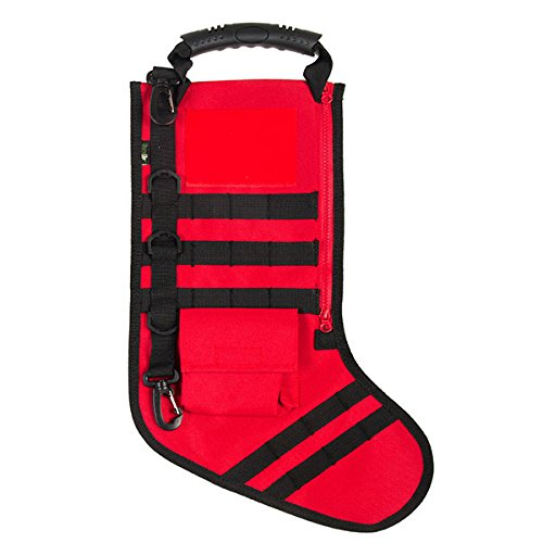RUCKUP RUXMTSR Tactical Christmas Stocking, Fire Red, Full, from RUCKUP