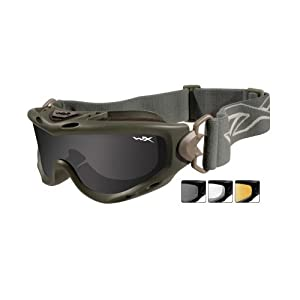 Wiley X Spear Goggle Foliage Green Smoke Grey/Clear SP293G