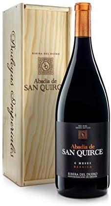 Abadía de San Quirce Vino Tinto 6 Meses Barrica Magnum en Caja de Madera - 1500 ml