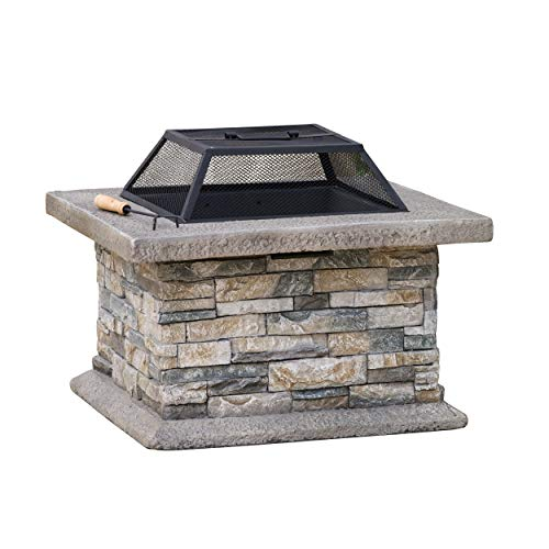 Kentwood Shield - Great Deal Furniture 238995 Kentwood Outdoor Fire Pit, Grey