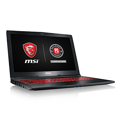 MSI GL62M 7RDX-1408 15.6' Full HD Thin & Light Performance Gaming Laptop Computer Quad Core i7-7700HQ, GeForce GTX 1050 2G Graphics, 8GB DRAM, 128GB SSD+1TB Hard Drive SteelSeries Red Backlit KB