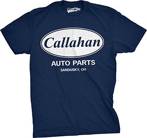 Mens Callahan Auto T Shirt Funny Shirts Cool Humor Tees Sarcasm (Navy) L