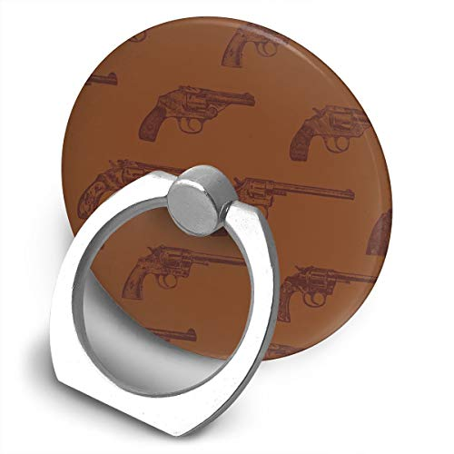 (Western Revolvers Bracket, 360 Degree Swivel Creative Ring Buckle Bracket Multi-Functional Ring Bracket Stand for Universal Phone)