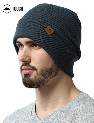 Hat Beanie Knit Ski (Tough Headwear Cuff Beanie Watch Cap - Warm, Stretchy & Soft Knit Hats for Men & Women - Serious Beanies for Serious Style)