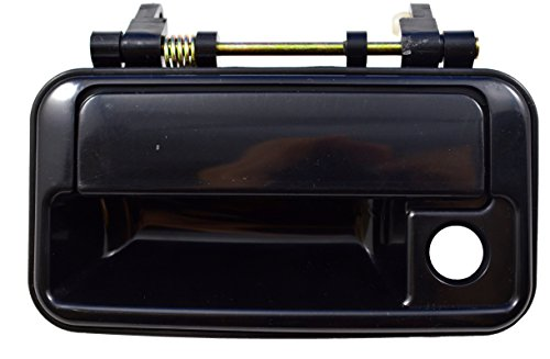 PT Auto Warehouse SZ-3218S-FL - Outside Exterior Outer Door Handle, Smooth Black - Driver Side Front