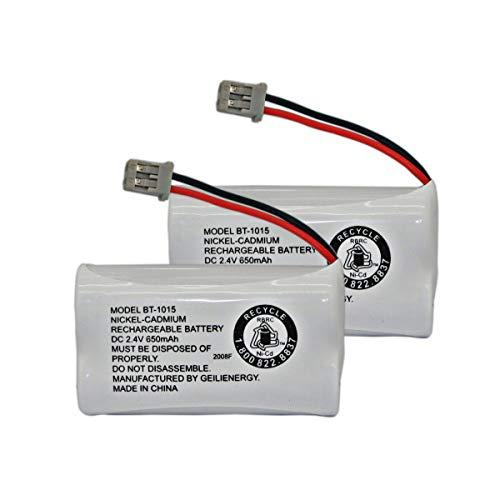 GEILIENERGY BT-1015 BT1015 Battery Compatible for Uniden BT1007 BT-1007 BT904 BT-904 BBTY0651101 BBTY0460001 BBTY0510001 BBTY0624001 BBTY0700001 Panasonic HHR-P506, HHR-P506A Cordless Phone(2-Pack)