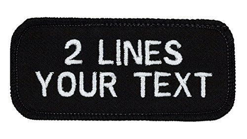 2 Line Name Patch Uniform or Work Shirt, Custom, Personalized, Embroidered