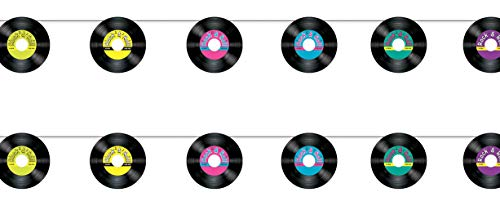 Beistle 54972 Records Streamers 2 Piece, 7