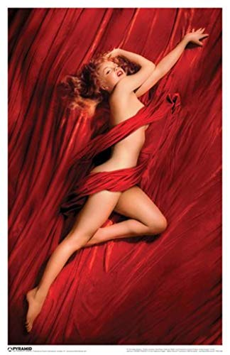 Pyramid America Laminated Marilyn Monroe Red Velvet Sign Poster Poster 12x18 inch