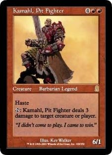Kamahl, Pit Fighter (Magic the Gathering : Odyssey #198 Rare)